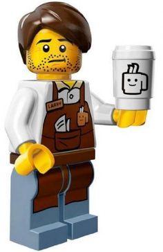 The Lego Movie Larry the Barista Coffee Minifigure Series 71004