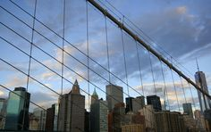 NY by Jerome Gauthier Brooklyn Bridge, San Francisco Skyline, New York, Travel, New York City, Viajes, Traveling, Nyc, Tourism