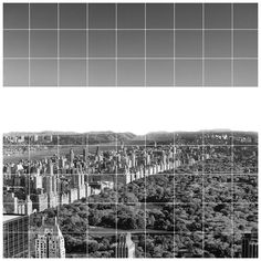 Cittàmurate, New york vista dall'interno. View of the inside of NY.  Città murate.  architecture art city wall black and white simple composition