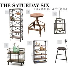 """""""The Saturday Six: Industrial Loft Style"""" by kathykuohome on Polyvore"""