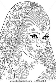 Elegant Indian Coloring Book