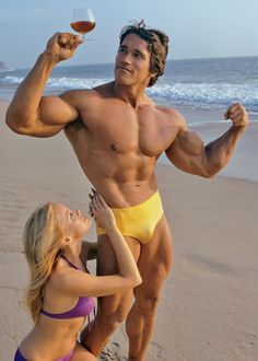 Arnold Schwarzenegger & Dian Parkinson, 1975