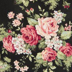 Bavlněná látka Růže velké černé Rose for You Flower Phone Wallpaper, Rose Wallpaper, Vintage Flowers, Vintage Floral, Black Rose Bouquet, Shabby Chic Wallpaper, Timeless Treasures Fabric, Floral Printables, Decoupage Vintage