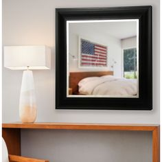 American Made Rayne Grand Black and Aged Silver Wall Mirror