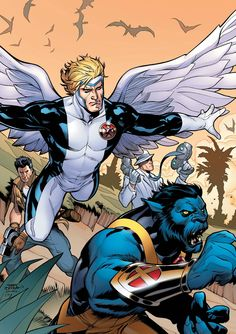 Archangel and Beast, Uncanny X-Men #6 cover by Rachel and Terry Dodson.