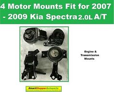 4 Engine & Transmission Mounts Fit for 2007 2008 2009 Kia Spectra A/T