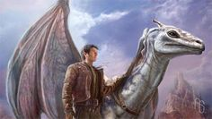 """Concept art for the Dragonriders of Pern TV series produced by Aaron Sims for Celtic Rose Entertainment LLC. This piece is titled """"Jaxom and Ruth"""". This is without a doubt some of the best Pern art I have ever seen. I especially like Ruth and the way he's portrayed. © Copyright by Aaron Sims Agency, all rights reserved."""