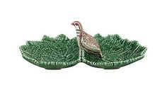 Earthenware Leaf With Partridge Dish from A Portuguese Love Affair. A Portuguese Love Affair was born from our wish to share the best things made in Portugal. To share childhood memories, unforgettable flavours and the essence of being Portuguese! - Trouva.com