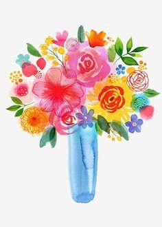 Margaret Berg Art: Spring+Garden+Bouquet