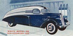 1937 White Model 700 Streamline Tanker Truck Advertising Illustration