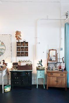 vintage cabinets inside tigerlily perfumery / sfgirlbybay