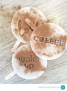 Just what you need to make sure your coffee always looks beautiful when your friends come over. Stencils.
