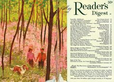"""Reader's Digest front and back cover, May 1968  Illustration: """"Woodland Spring"""" by Howard Terpning"""