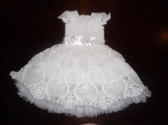 Crochet baby girl Blessing/Christening dress, baby girl gift, READY TO SHIP