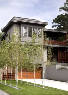 Ethereal Modern japanese fence design,Garden fence mesh and Front yard fence home depot. Backyard Fences, Garden Fencing, Modern Landscaping, Front Yard Landscaping, Landscaping Ideas, Rain Garden, Tree Garden, Fence Design, Garden Design