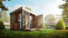 Garden Office by Sérgio Merêces Arch-Viz 3d Architectural Visualization, Architecture Visualization, 3d Visualization, Quick Garden, Design 3d, Graphic Design, Exterior Rendering, 3d Rendering, Pergola