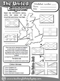 The United Kingdom - Worksheet (B & W version)