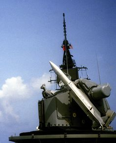 USS Sampson (DDG 10) fires a RIM-66 Standard Missile SM-1MR from her Mk-11 launcher