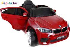 A Funfit Kids BMW X6 M F16 elektromos autó tökéletes ajándék minden gyermek számára! Nagyon szórakoztató nem csak a fiúknak, hanem a lányoknak is. Gyermeked maga vezérelheti az autót, te pedig távirányítóval rendelkezel, így segítve gyermeked, ha esetleg nem tudná még irányítani a járgányt. A vezetési élményt tovább fokozzák a beépített dallamok és a külső forrásból származó hang csatlakoztatásának képessége, lehetősége!    Jellemzői:  - BMW logóval aláírva  - 2x 6V 7Ah akkumulátor  - 2x 40W… Bmw X6, Vehicles, Car, Kids, Products, Young Children, Automobile, Boys, Children