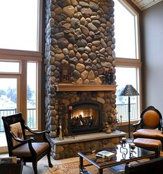 faux stone fireplace | Cyprus Air Fireplace Systems - Stone Fireplaces