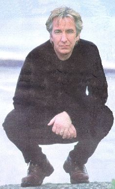 """Alan -- I think this was from around when he was directing """"The Winter Guest. Alan Rickman Always, Alan Rickman Severus Snape, Photo Book, I Look To You, Severus Rogue, Raining Men, British Actors, Best Actor, Portrait"""