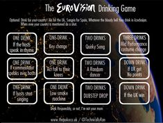 The eurovision drinking game the poke eurovision party foods! Hetalia, Eurovision France, Terry Wogan, Forever Quotes, Drinking Games, Party Time, Cocktails, Funny, Games