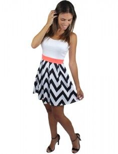 Saved by the Dress! Black and white chevron dress