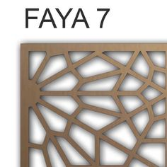FAYA - The Mashrabiya Specialist, headquartered in Dubai/UAE   is a  specialized manufacturer / supplier of intricate Mashrabiya screens on  metals, wood, brass , copper and MDF for the construction industry,  architecture and interior design sectors in the Middle East .Today FAYA  offers innova