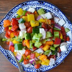 Deliciously crunchy Chopped Israeli Salad