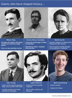 Giants of technology who have shaped history - compare and contrast!