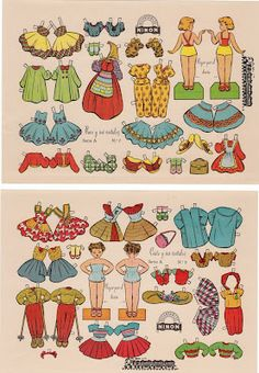 Paper Dolls - S-A #7 / #8