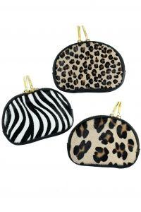 Porte-monnaie cuir léopard et zèbre