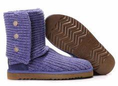 UGG Women Boots Classic Cardy Purple Knit