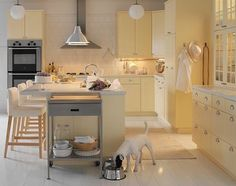 #ikeastatcabinets #whitekitchen this layout somewhat resembles what our new kitchen will look like.