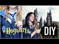 DIY Hogwarts Student Uniform (Harry Potter Inspired Halloween Costume and Wands) - YouTube