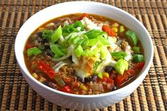 Black bean and quinoa chilli - love how they use a whole can or whole item. Who really uses a 1/4 of a zucchini :)