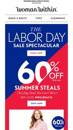 227d5492bfd5 Don t Miss The 60% OFF Summer SALE - Woman Within Email Archive