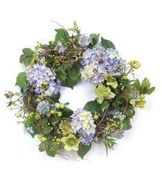 diy hydrangea berry wreath