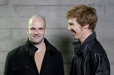 Benedict Cumberbatch and Jonny Lee Miller. Stumbled on this while browsing the net