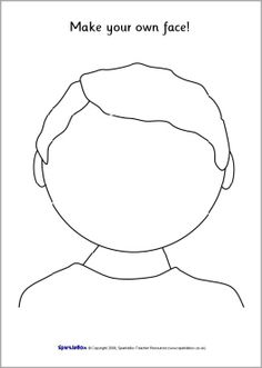 Use these printable blank faces for templates for collage, or as laminated whiteboards where children can draw emotions with drywipe pens. The Human Body, Art For Kids, Crafts For Kids, Quiet Book Templates, Face Template, Feelings And Emotions, Busy Book, Preschool Activities, Body Preschool