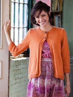 Cardi Gras | Yarn | Free Knitting Patterns | Crochet Patterns | Yarnspirations