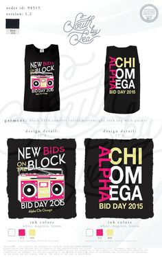Alpha Chi Omega | AXO | Alpha Chi | Alpha Chi Omega Bid Day | New Bids on the Block | Alpha Chi Omega Tanks | South by Sea | Sorority Shirts | Sorority Tanks | Greek Shirts