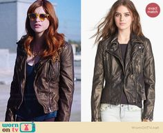 Gretchen's metallic bronze leather jacket and yellow sunglasses on You're the Worst Best New Shows, You're The Worst, Confessions Of A Shopaholic, Faux Leather Jackets, Sweater Jacket, Bronze, Style Inspiration, Fashion Outfits, Sunglasses