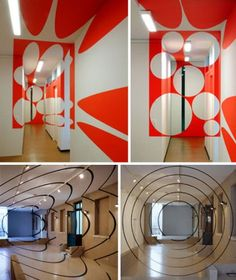 Varini is a Swiss artist, known for his geometric perspective-localized paintings of rooms and other spaces, using projector-stencil techniques. Art Courses, Illusion Art, Office Interior Design, Op Art, Optical Illusions, Contemporary Art, Rooms, Inspiration, Perspective Art