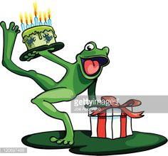 Happy Birthday Frog Vector Art | Getty Images
