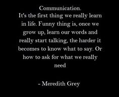"""Greys anatomy """"Communication"""""""
