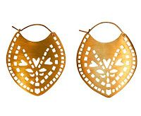 Gold Colour Cut-Out Earrings
