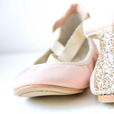 Bailarinas Nude Glitter Oro