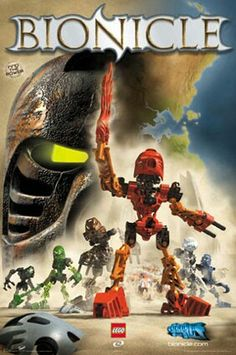 Bionicle Toa...I love love LOVED these when they first came out. Awesome concept, that quickly became an excuse for selling more LEGOs as each year they had to evolve into something new.