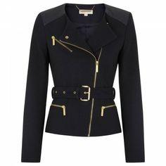 MICHAEL Michael Kors Belted tweed jacket Michael Kors Jackets, Autumn Winter Fashion, Winter Style, Tweed Jacket, Cosplay Costumes, Monochrome, Belt, Blazer, My Style